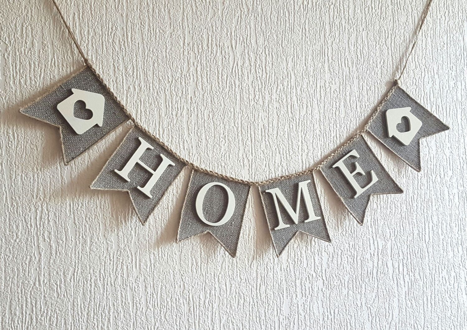 Home Banner Home Sign Home Burlap Banner Welcome Bunting