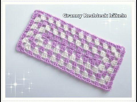 Super Einfach Granny Rechteck Häkeln Granny Decke Häkeln Granny