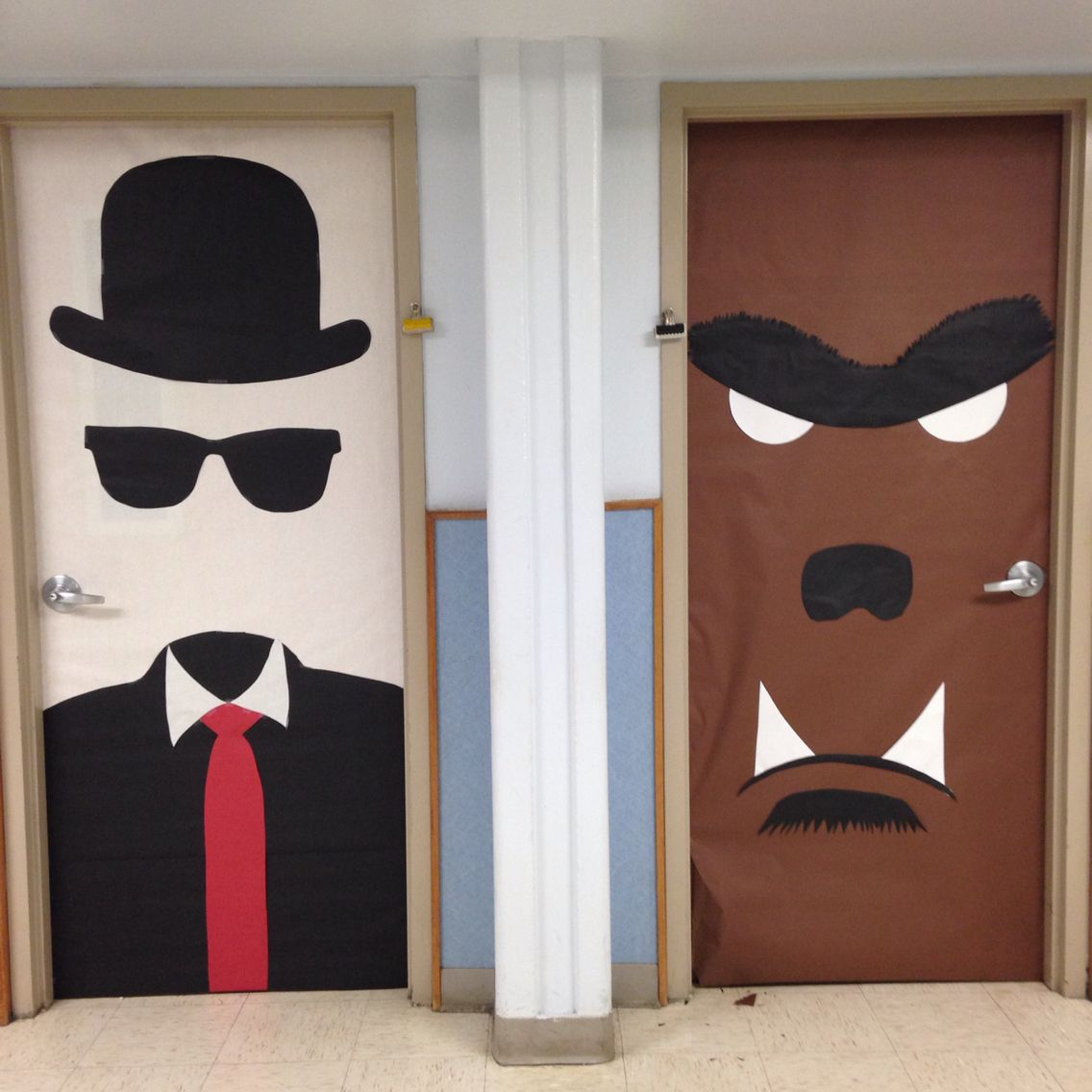 Monster Mash Invisible Man Werewolf Door Decoration