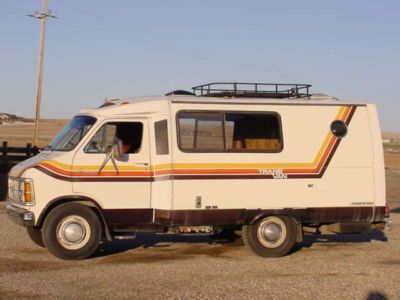 A 1979 Dodge Transvan Like This One In Excellent Condition With A Rebuilt Motor And Transmision Has Been Ha For Sale Sign Recreational Vehicles Rv Motorhomes