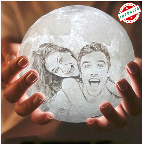 Photo Text Customized 3d Printing Night Light Prints Moon Light Lamp