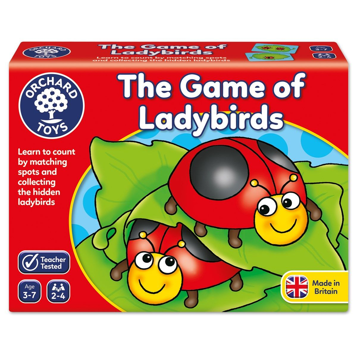 The Game of Ladybirds Orchard toys, Hobby kids games