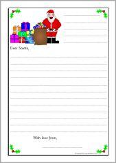 Letters To Santa Writing Frames Sb  Sparklebox  Special