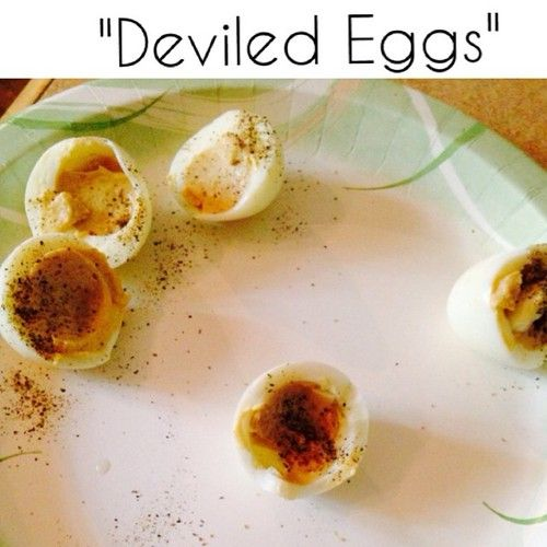 #SnackTime If you are looking for something #quick, #easy and most importantly filling, this might just do the trick. Deviled Eggs #eatclean