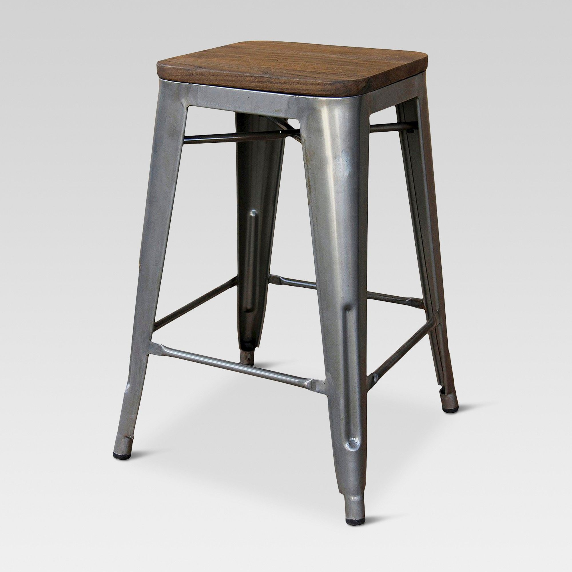 24 Hampden Industrial Wood Top Counter Stool Threshold 24 Counter Stools Counter Stools Stool