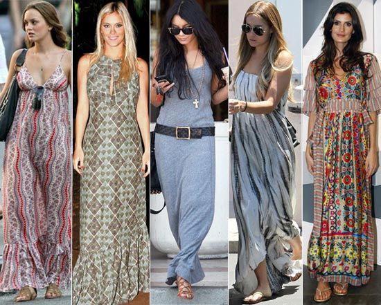 Moda com vestido longo