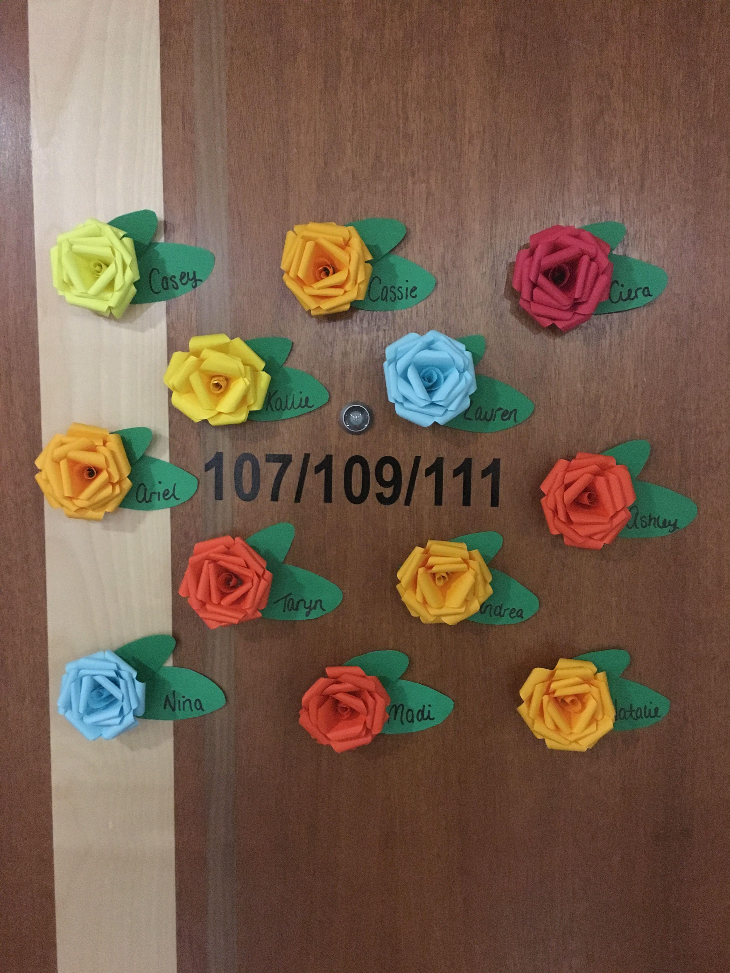 3d Rose Door Decs Door Tags For My Girls Easy Paper Folding Rolling