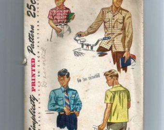 Simplicity Boys' Shirt Pattern 2049