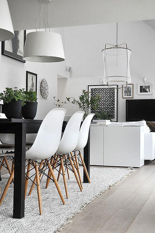 comedor_blanco_negro | cocina | Pinterest | Comedores blancos ...