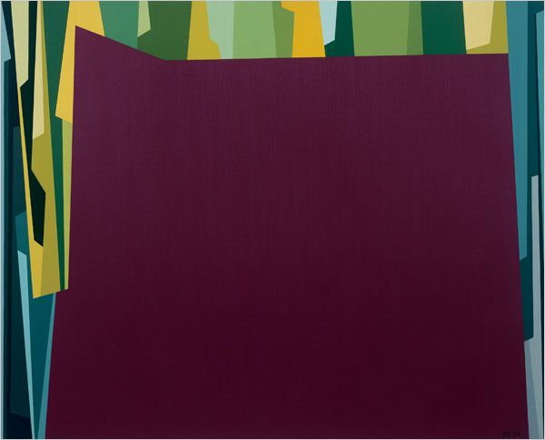 The New York Times > Arts > Slide Show > Dance the Line Paintings by Karl Benjamin > Slide 7 of 8