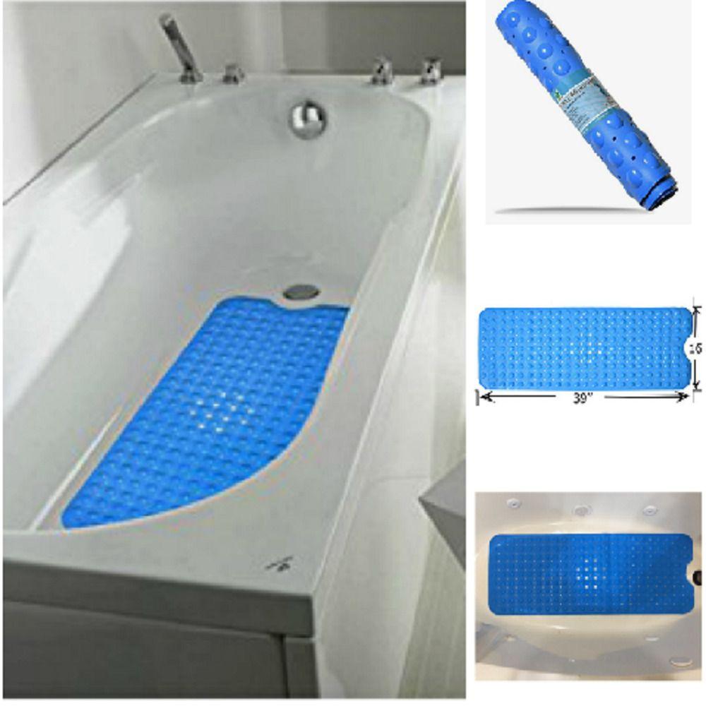 Extra Long Bath Tub Mat Non Slip Suction Cups Bathroom Bathub Tub ...