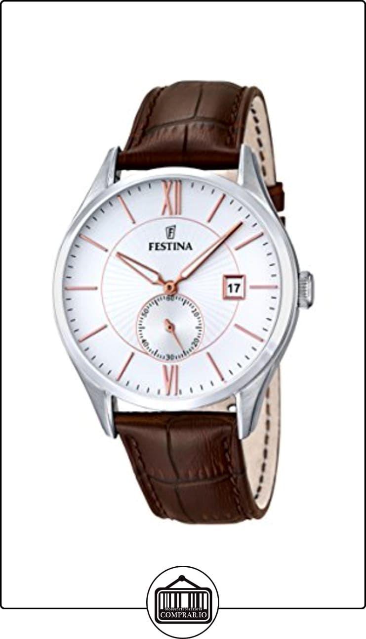 Festina Herren-reloj analógico de pulsera de cuarzo cuero F16872 2 de ✿  Relojes para hombre - (Gama media alta) ✿ 1245ed0628c3