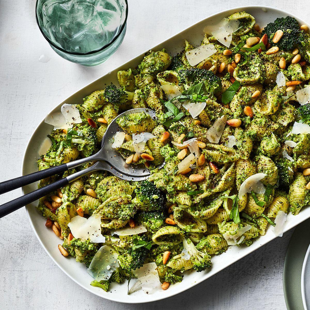 Pasta Shells with Broccoli Pesto