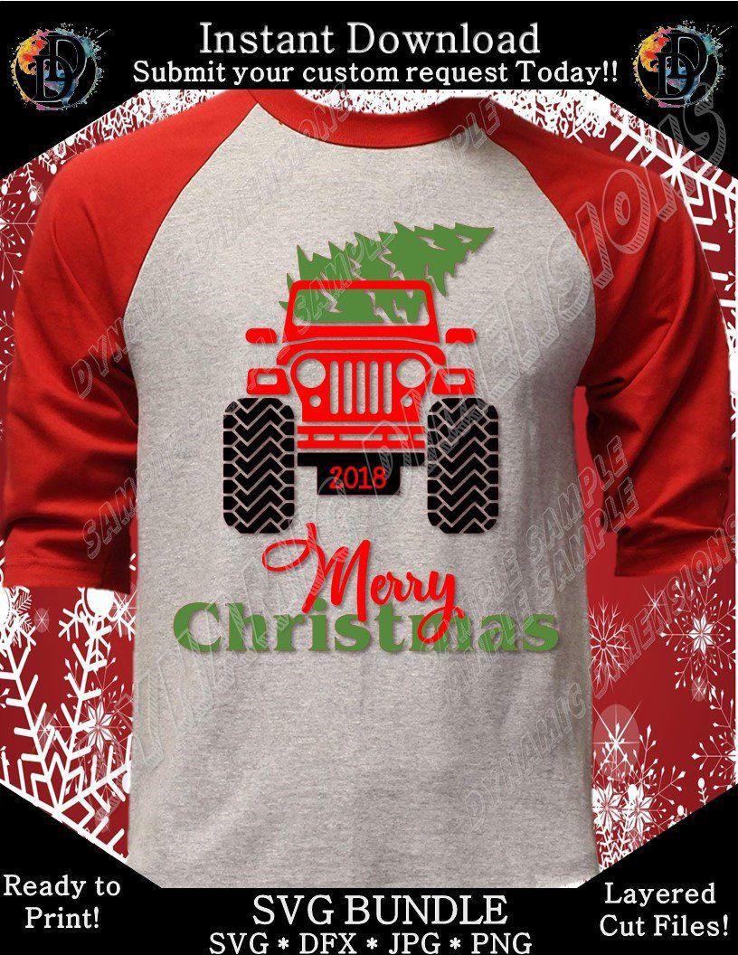 Christmas Jeep Shirt SVG, Jeep Christmas Shirt,Women's