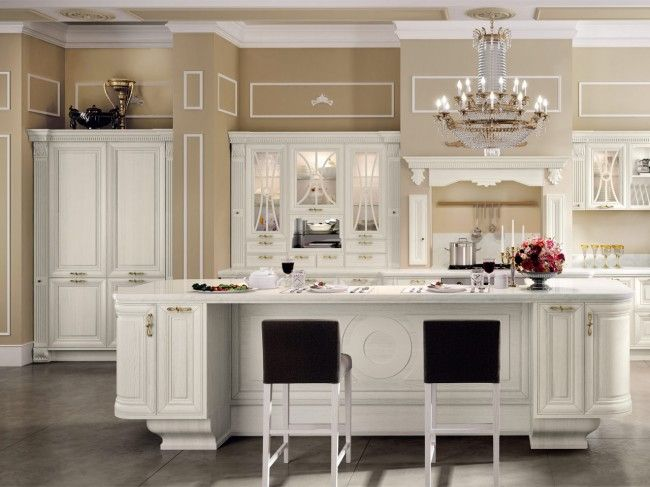 Einrichtungsideen wohnküche  einrichtungsideen wohnküche weiße-holzfronten design kronleuchter ...
