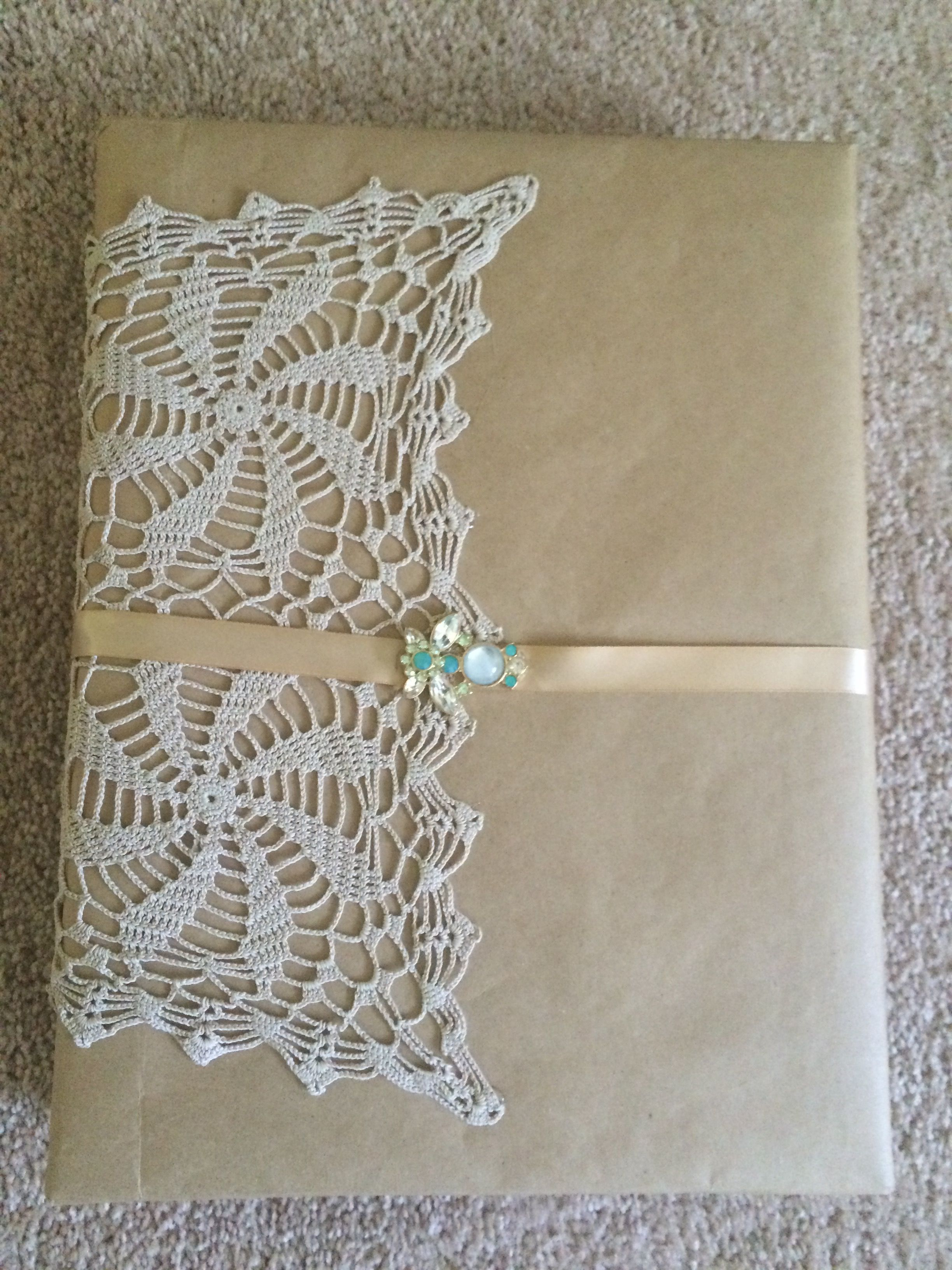 Lace And Brown Paper Wrap