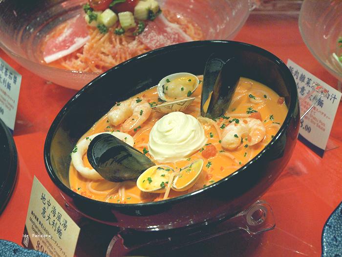 Silicone food! At Yomenya Goemon restaurant.