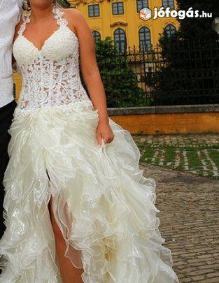 ebdc9a5e07 Ekrü menyasszonyi ruha, 5. image | esküvö | Formal dresses, Dresses ...