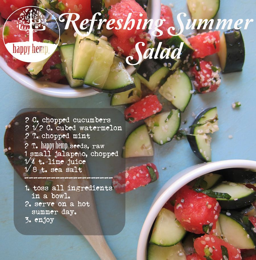 Check out this refreshing salad, perfect for summer!