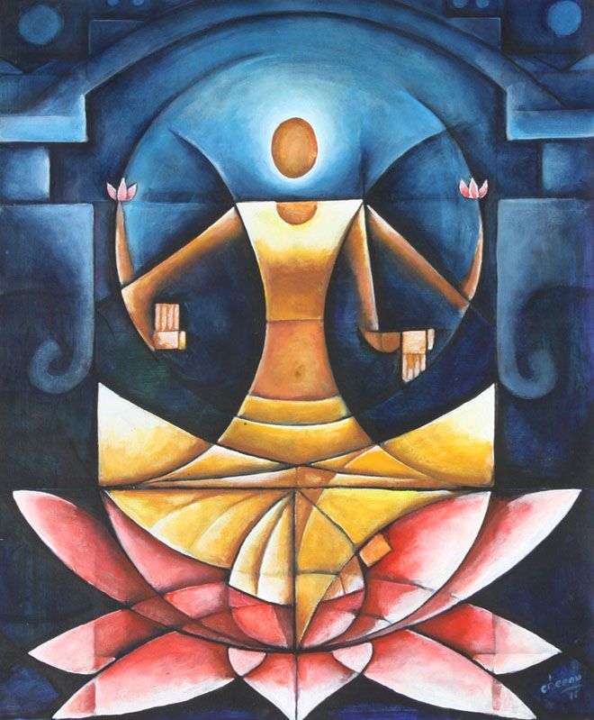50 Most Beautiful Indian Paintings From Top Indian Artists Abstract Art Painting Indian Art Paintings Indian Paintings