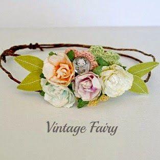 Vintage Fairy : Pastel flower crown just listed