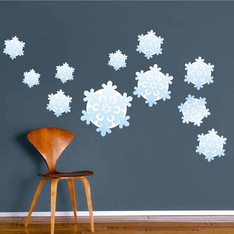 Great Snowflake Wall Decals   Christmas Murals   Primedecals