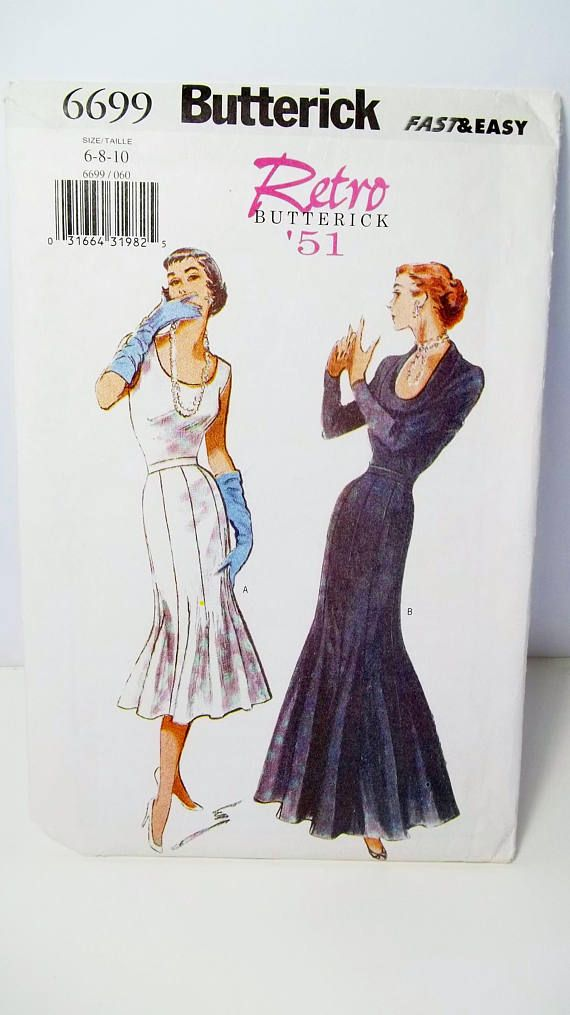 Retro 50\'s Evening Dress Butterick 6699 Fast & Easy Sewing ...