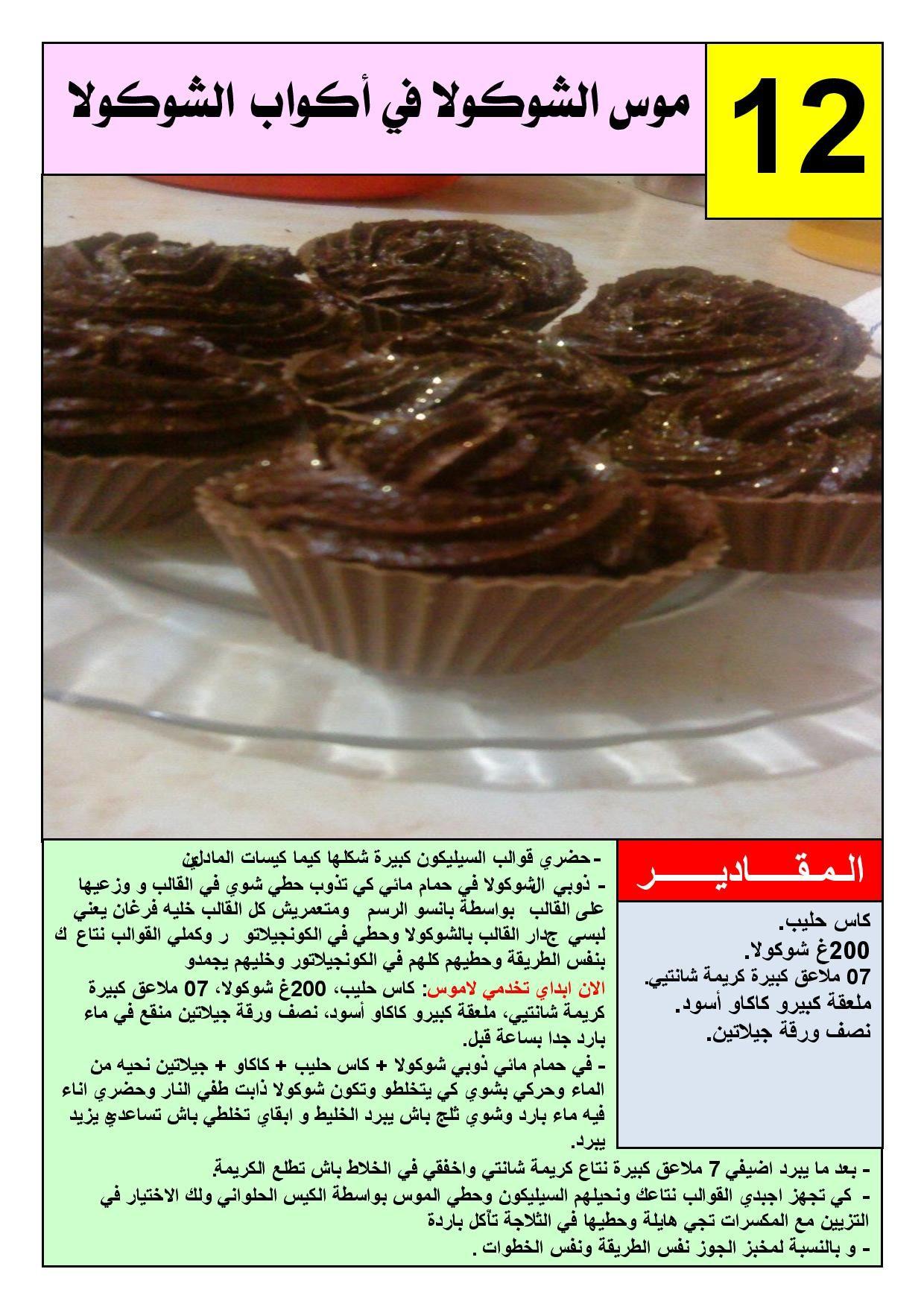 حلويات الشيفladymillion تأليف الأخت ريحانة الوادي منتديات الجلفة لكل الجزائريين و العرب Food Easy Meals Dishes