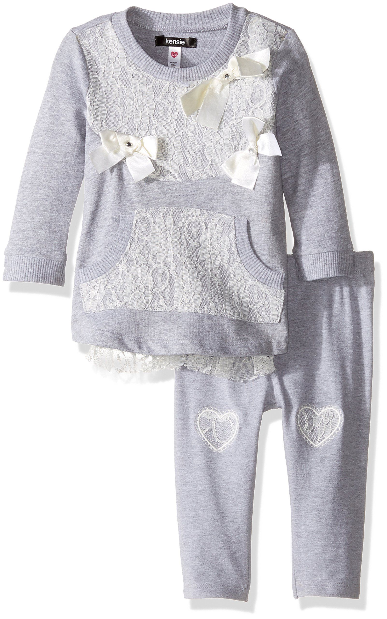 Baby Girls Sweater Pullover Dresses Tops with Brooch