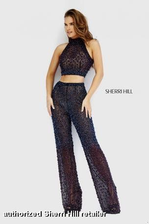 ed00de8d05b4 Sherri Hill Fall Homecoming Prom Collection - 32306 Pants Jumpsuit Romper  Pantsuit 2-piece two piece crop top