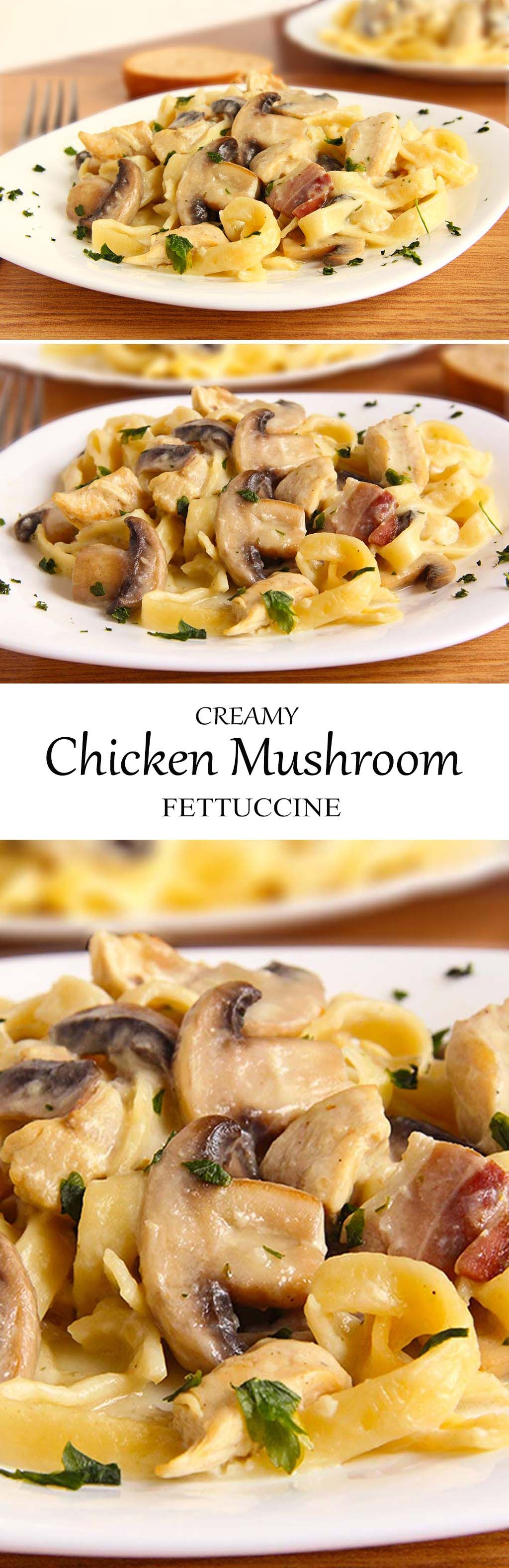 Fall has finally arrived. Creamy Chicken Mushroom Fettuccine is what you'll need, folks. I hope this warms your belly as you celebrate fall!