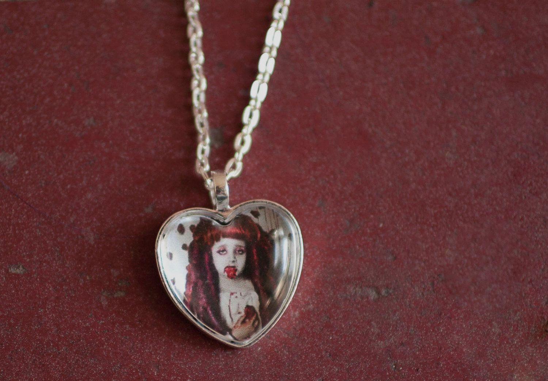 Strawberry Fields Necklace. $35.00, via Etsy.