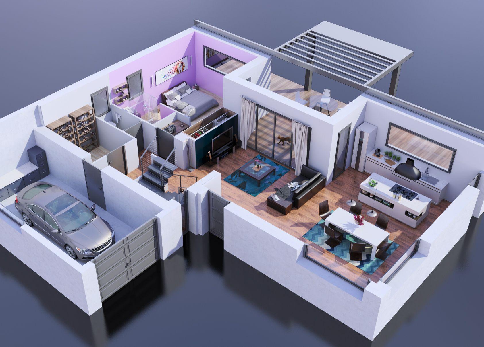 Modèle De Maison Maison Bois   3 Chambres Plus Suite Parentale Présenté Sur  ConstruireSaMaison.com
