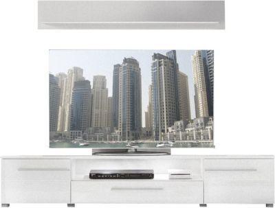 TV Lowboard Vision weiß hochglanz Media Hifi Kommode Wohnzimmer