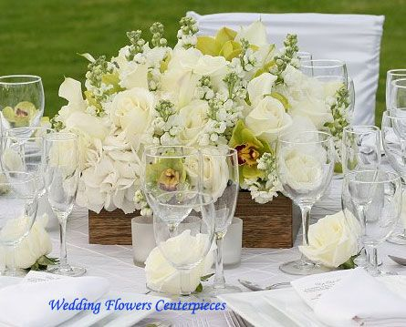 Wedding Table Centerpieces White Flower