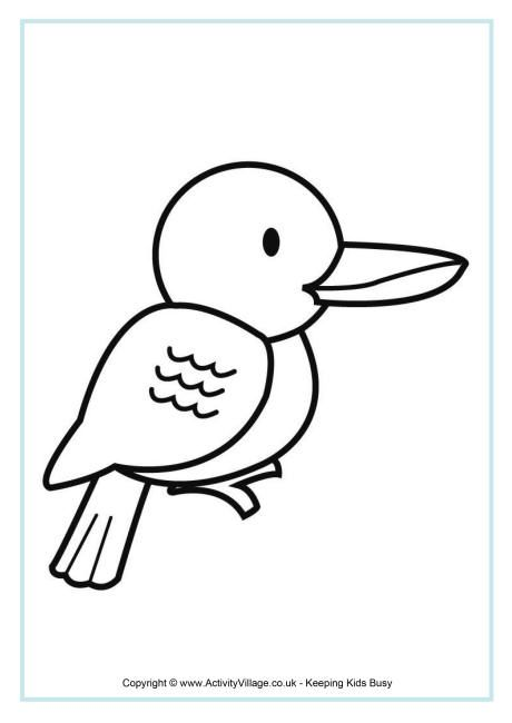 Kookaburra Colouring Page Animal Coloring Pages Coloring Pages