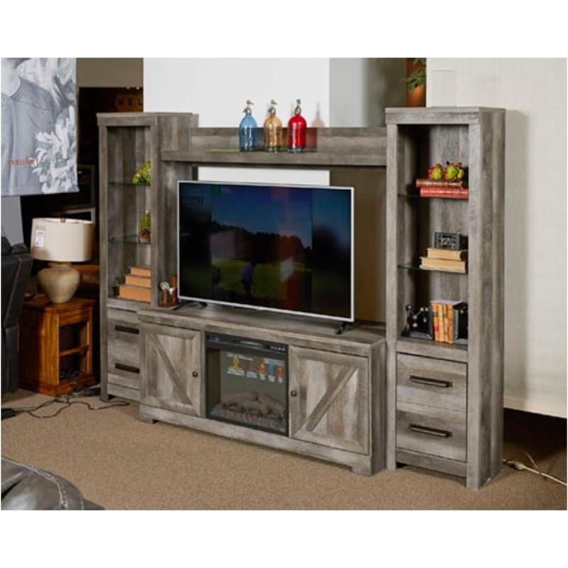 Ashley Furniture Wynnlow Gray Entertainment Center With: W440-27 Ashley Furniture Wynnlow Bridge