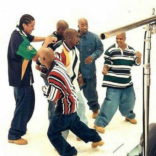 2pac & Tha Outlawz _on The Set Of Hit Em Up 1996