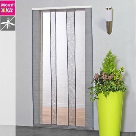 Moustiquaire Rideau Pour Porte L100 X H230 Cm Beige Moustikit