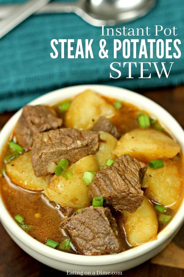 Steak and Potatoes Beef Stew Instant Pot Pressure Cooker images