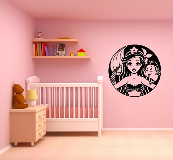 My Little #Mermaid Starbucks Wall Art Vinyl Decal Sticker Stencil Mural