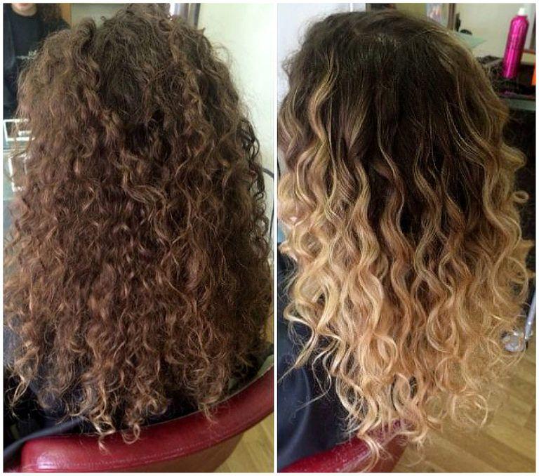 Омбре на короткие волосы кудрявые волосы