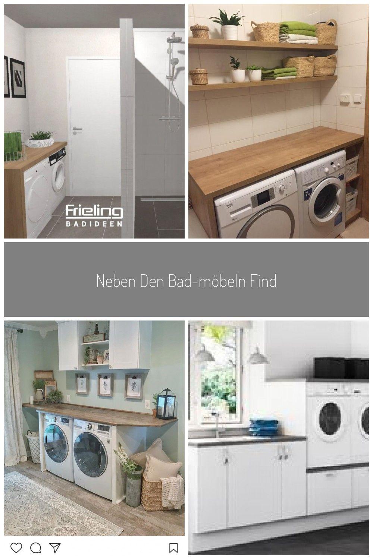 Neben Den Bad Mobeln Finden Sogar Waschmaschine Und Trockner Unter Einer Eleganten Holzplatte Ihren Platz Das Duschbad B In 2021 Home Appliances Home Washer And Dryer