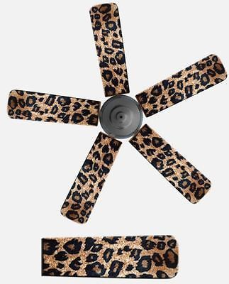 fancy blade home decor ceiling fan blade cover animal print