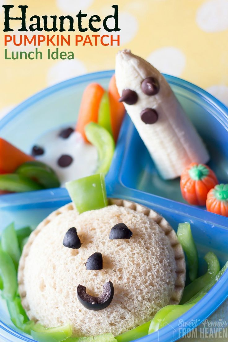 haunted pumpkin patch lunch idea with uncrustables healthy