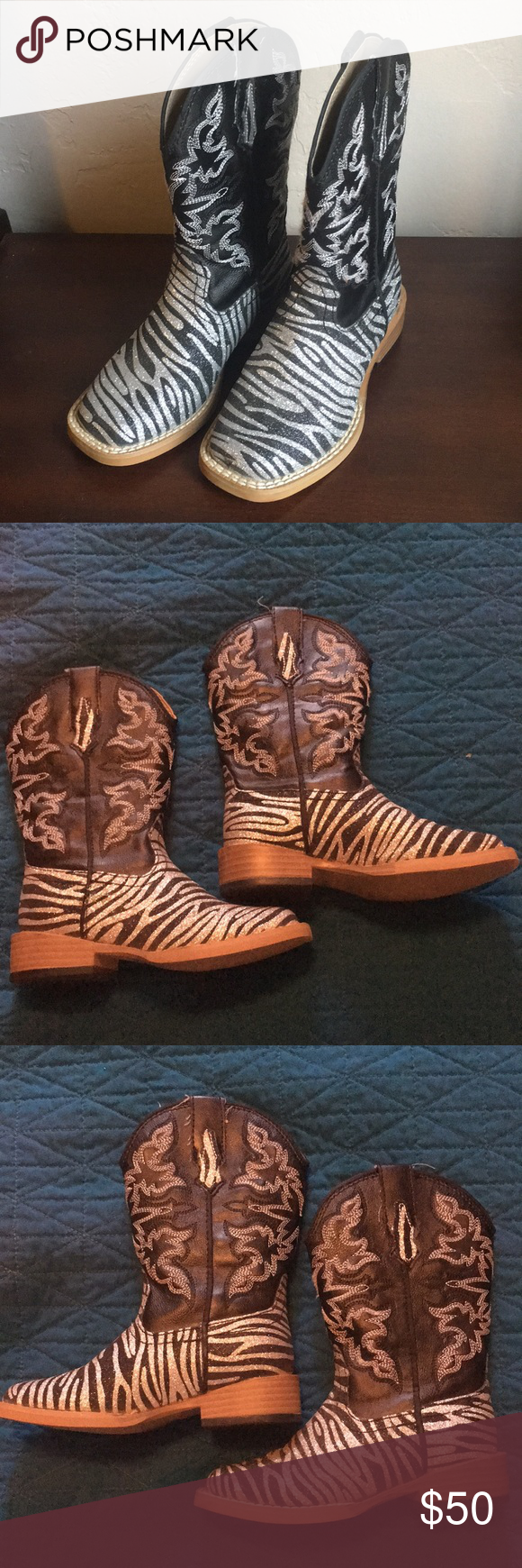 ef7767199ca Youth cowboy boot - girls size 9 Roper. Youth cowboy boot - girls ...