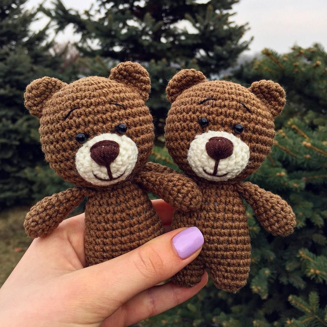 A master class with a description of crochet cute teddy bear mint color will help create a toy with your own hands