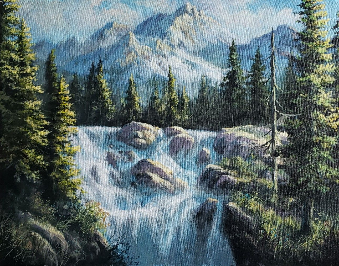 Pin On Kevin Hill Acrylic Paintings