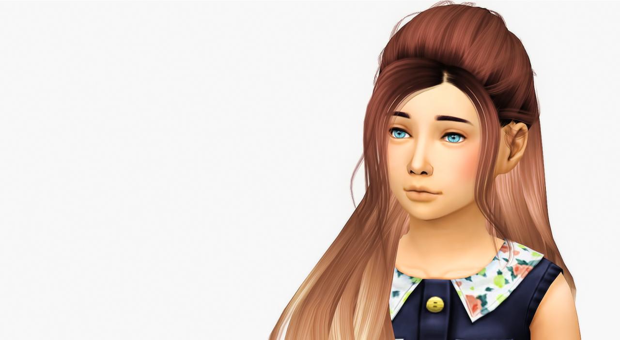 Fabienne Kid Hairs Pinterest Sims Sims Cc And Sims Hair