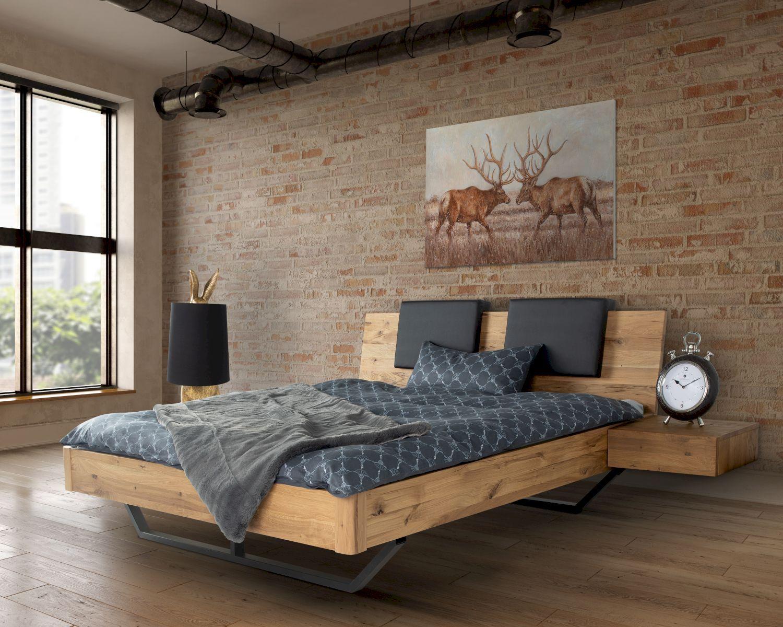 Massivholz Dolce Vita Ii Wildeiche Bett In 2020 Eichenbetten Bett Modern Bett Mobel